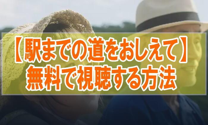 映画『駅までの道をおしえて』のフル動画を無料で見る!視聴者の感想・評価・評判